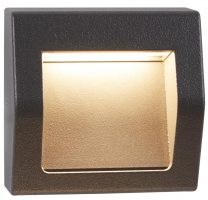 Ankle Small 4w LED Outdoor Recessed Wall Light Dark Grey IP54