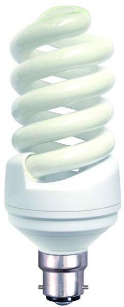 Spiral 15w BC Warm White Flourescent Light Bulb