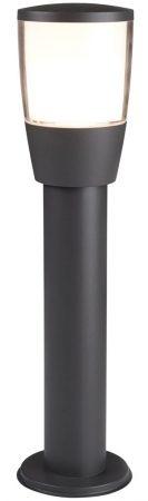 Tucson 45cm Outdoor Bollard Post Light Dark Grey White Shade IP44