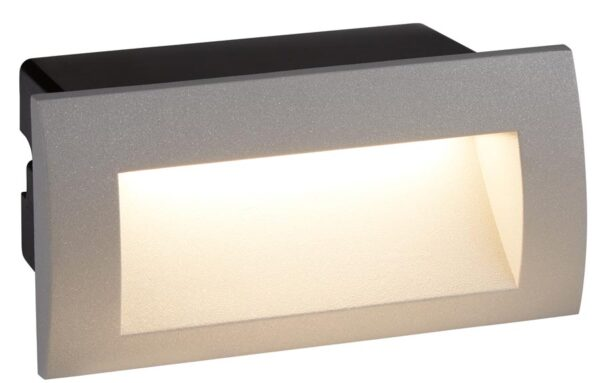 Ankle Letterbox 3w LED Outdoor Recessed Wall Light Grey IP65
