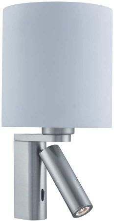 LED Adjustable Switched Modern Wall Light Satin Silver