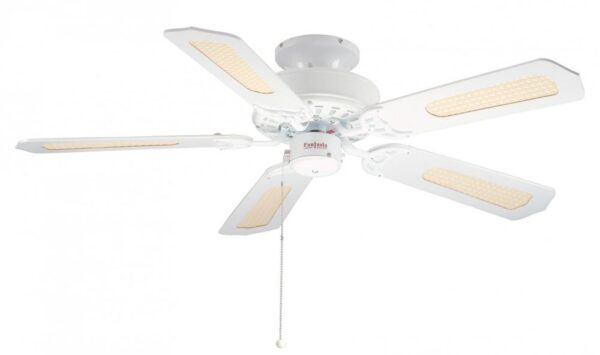 """Fantasia Belaire 42"""" Ceiling Fan Without Lights Gloss White"""