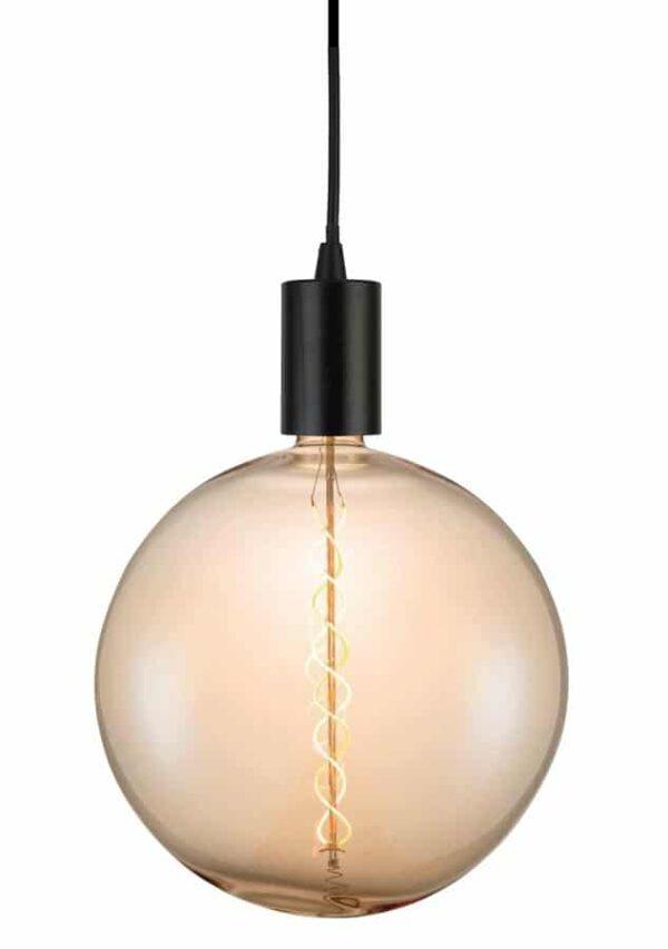 Giant Globe 8w LED Spiral Filament Lamp Bulb Amber E27