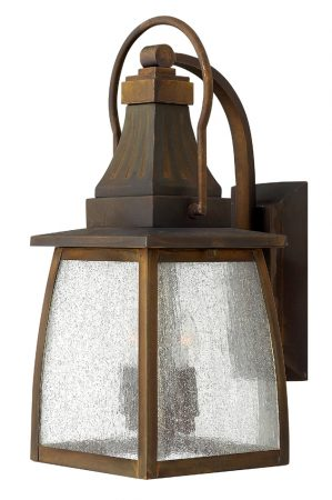 Montauk Antique Brass Medium Outdoor Wall Lantern