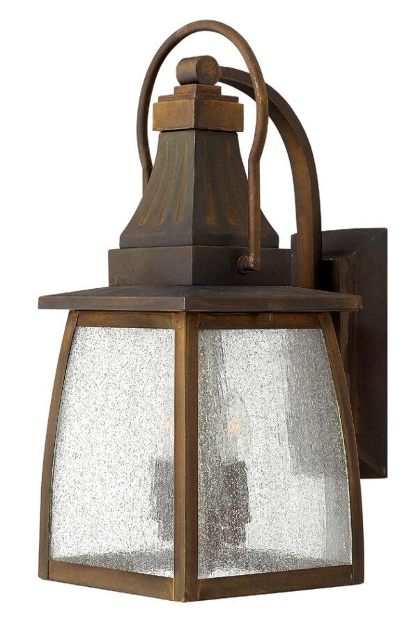 Hinkley Montauk Solid Brass 2 Light Medium Outdoor Wall Lantern
