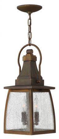 Hinkley Montauk Solid Brass 2 Light Hanging Outdoor Porch Lantern