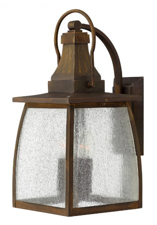 Montauk Antique Solid Brass Large Outdoor Wall Hanging Lantern