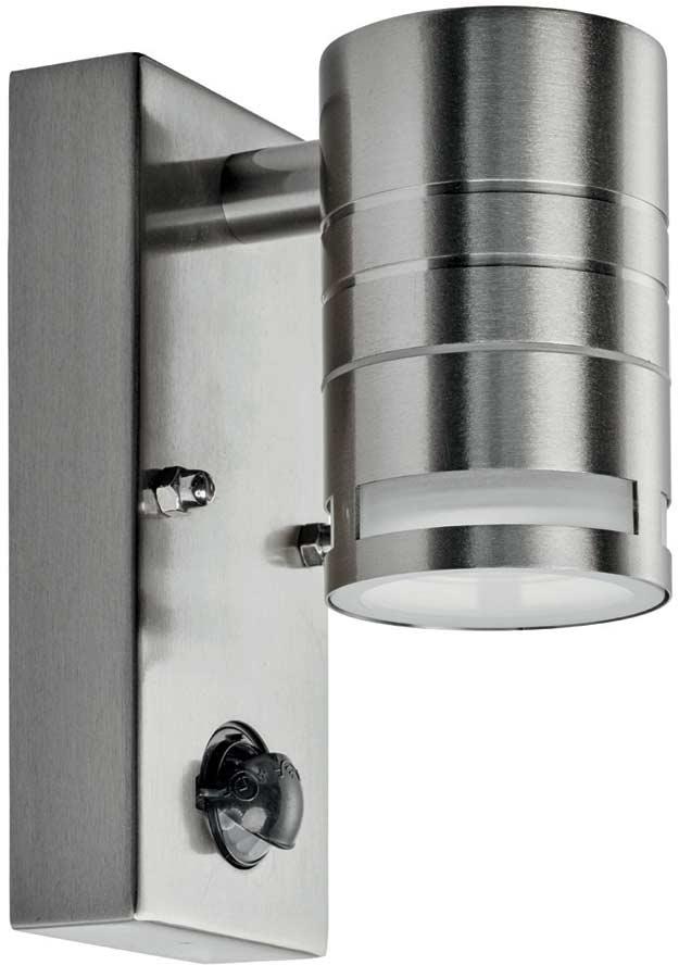 Modern Stainless Steel Outdoor PIR Sensor Downward Wall Spotlight 1318 1 LED