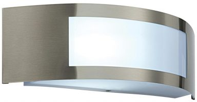 Cameo Curved Window IP44 Outdoor Wall Light Stainless Steel