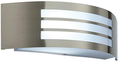 Cameo Slat Window IP44 Outdoor Wall Light Stainless Steel
