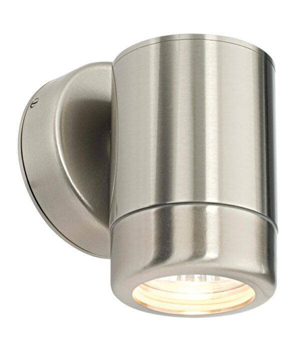 Atlantis outdoor downward wall light in brushed 316 stainless steel