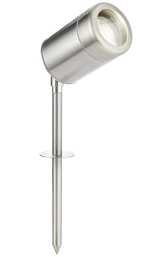 Atlantis adjustable outdoor spike spot light in 316 stainless steel