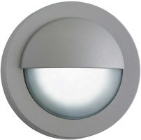 Modern LED Outdoor Mini Garden Wall Step Light Grey
