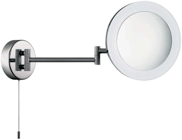 Chrome Switched LED Illuminated Swing Arm Bathroom Mirror