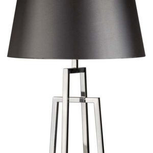 York crossed frame 1 light table lamp in polished chrome