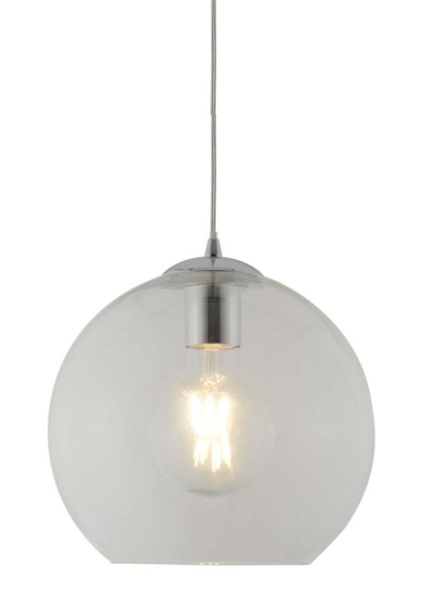 Balls 1 light 25cm round clear glass ceiling pendant,