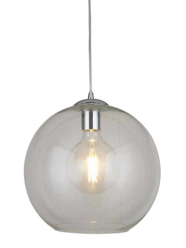 Balls 1 light 30cm round clear glass ceiling pendant