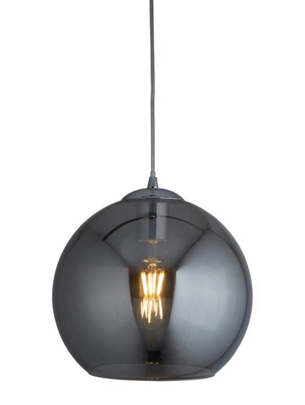 Balls 1 light 30cm round smoked glass ceiling pendant