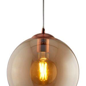 Balls 1 light 35cm round large amber glass ceiling pendant