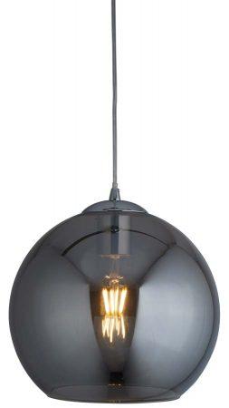 Balls 1 Light 35cm Round Smoked Glass Ceiling Pendant Chrome