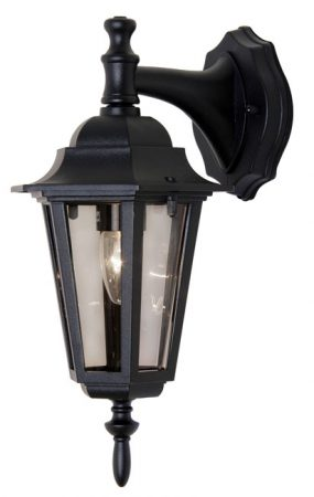 Haxby Traditional Black Outdoor Downward Wall Lantern