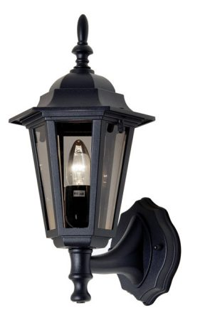 Haxby Traditional Black Outdoor Upward Wall Lantern