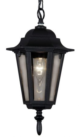 Traditional Black Hanging Porch Lantern Haxby