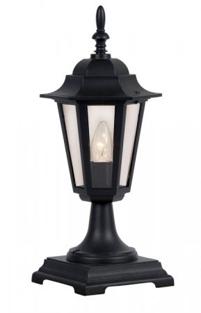 Traditional Black Outdoor Post Light Haxby