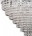 Chrome Teardrop 11 Light Crystal Chandelier