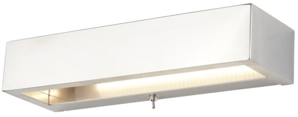Rectangle 8W LED Switched Wall Washer Light Polished Chrome