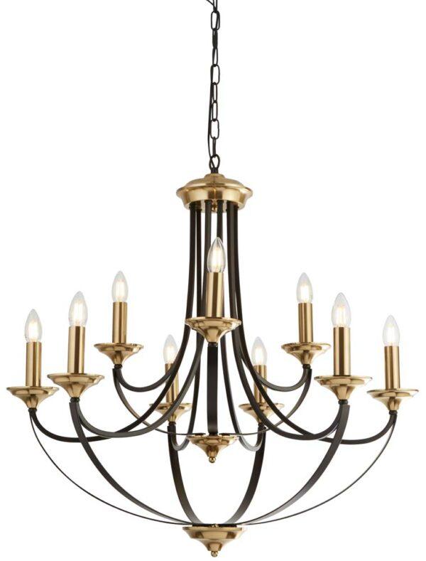 Belfry 9 light birdcage large chandelier dark brown bronze