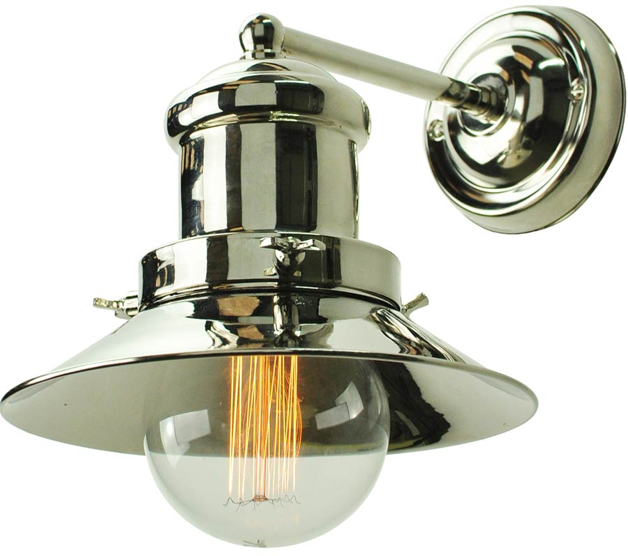 Wall Lights For Period Homes : Small Edison Period 1 Lamp Wall Light Polished Nickel 1900-W-N