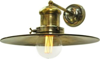 Large Edison Period 1 Lamp Wall Light Antique Brass