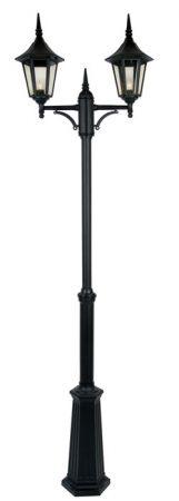 Cardinal Traditional Black 2 Head Garden Lamp Post