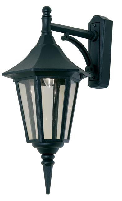 Cardinal Traditional Black Outdoor Downward Wall Lantern