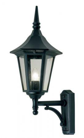 Cardinal Traditional Black Outdoor Upward Wall Lantern