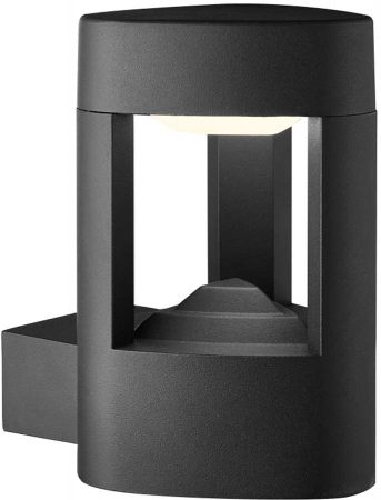 Modern Dark Grey Aluminium IP54 Outdoor LED Wall Light