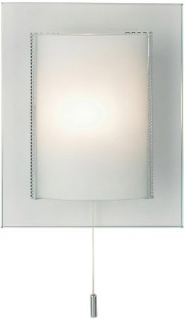 Cabot Modern 1 Light Opal Curved Glass Switched Wall Washer