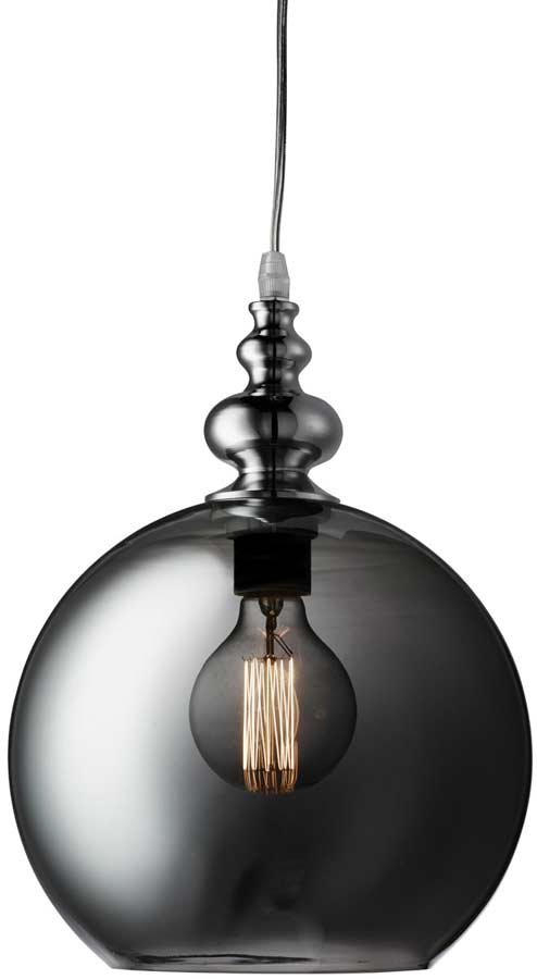 Indiana Dimpled Smoked Glass Pendant Light Polished Chrome  sc 1 st  Universal Lighting Services & Indiana Dimpled Smoked Glass Pendant Light Polished Chrome 2020SM