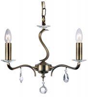 Cobra Stunning Antique Brass 3 Light Chandelier
