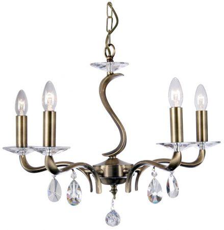 Cobra Stunning Antique Brass 5 Light Chandelier