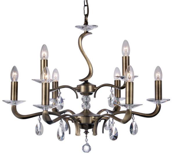 Cobra Stunning Antique Brass 9 Light Chandelier