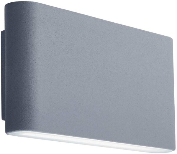 Modern Outdoor Grey Aluminium LED Slim Wall Washer Light