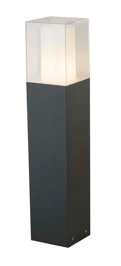 Cube 1 light outdoor 90cm bollard light dark grey