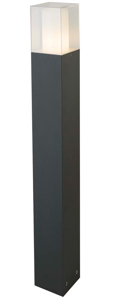 Cube 1 Light Outdoor 90cm Bollard Light Dark Grey IP44