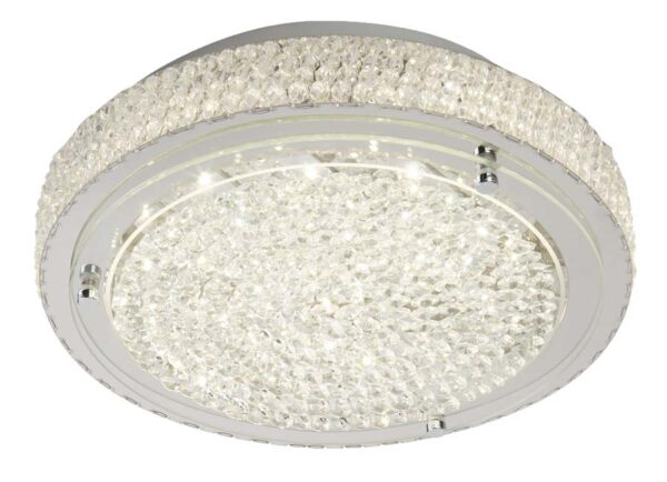 Vesta LED 30cm flush mount crystal ceiling light