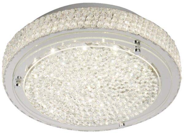 Vesta LED 40cm flush mount crystal ceiling light
