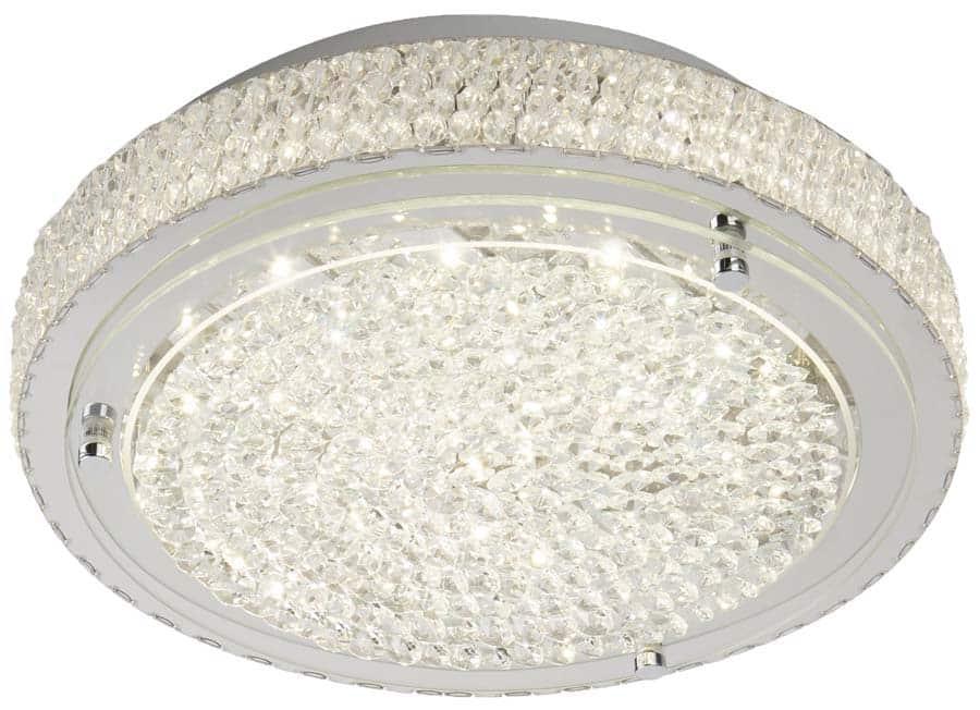 Vesta Led 40cm Flush Mount Crystal Ceiling Light Chrome 2714cc