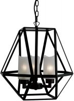 Voyager Matt Black Iron 3 Light Octagonal Hanging Lantern