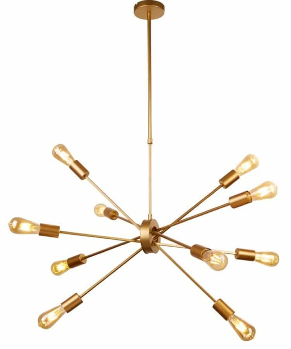 Alpha 10 light contemporary ceiling pendant